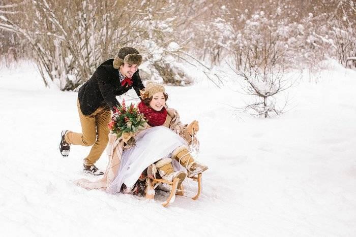 Свадьба зимой – идеи для необычной красивой зимней фотосессии