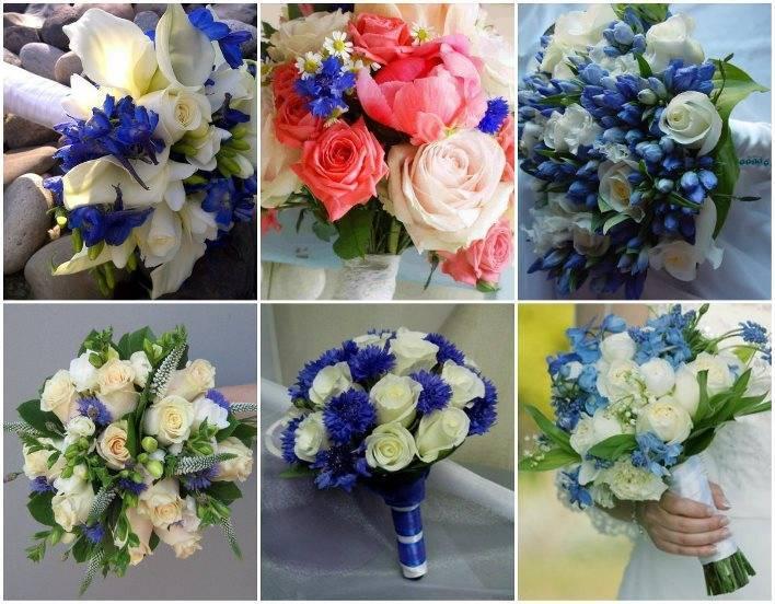 Букет невесты из роз (91 фото): нежная комбинация на свадьбу из мелких чайных розочек с синими гортензиями и бордовыми гвоздиками