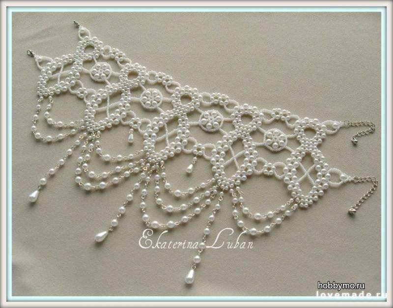 Колье из бисера и бусин: схема плетения для начинающих
