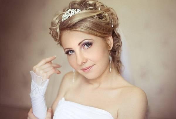 Виды причесок невесты с диадемой и фатой