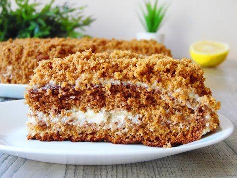 Шоколадно медовый торт с орешками | vipvkusnyashka.ru