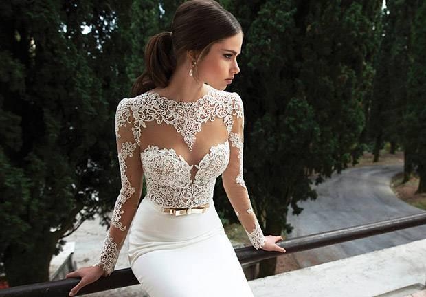 Облегающие свадебные платья: фасоны и фото