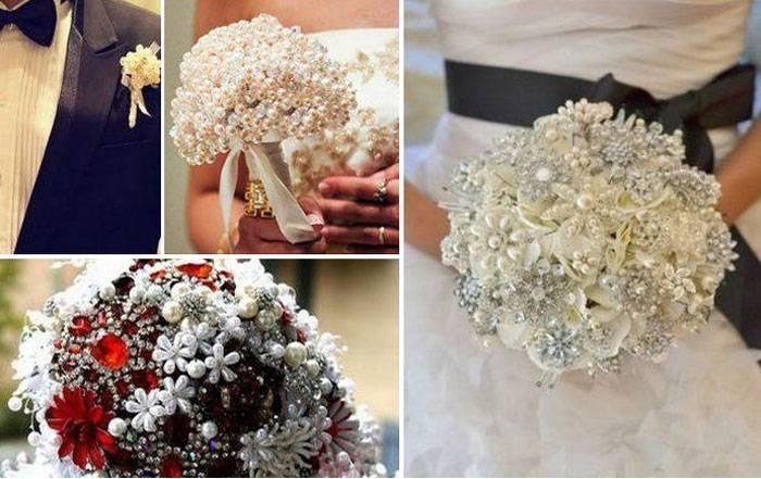 Свадебные украшения из бисера