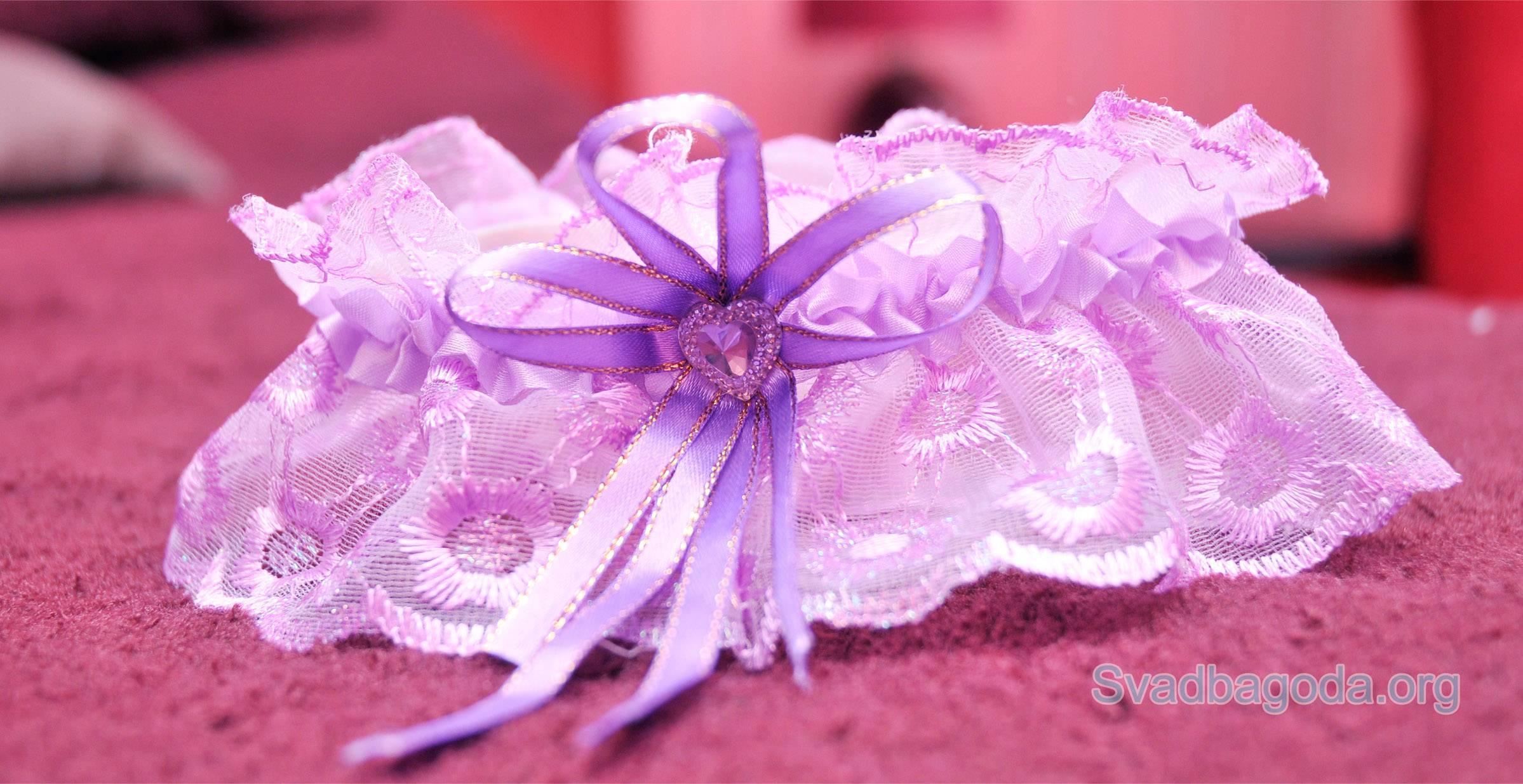 Как сделать подвязку невесты своими руками?