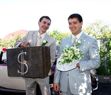 Выкуп на свадьбе или прикольный сценарий