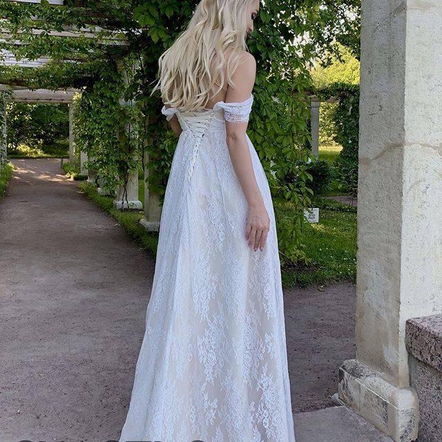 Свадебные платья для беременных (52 фото)