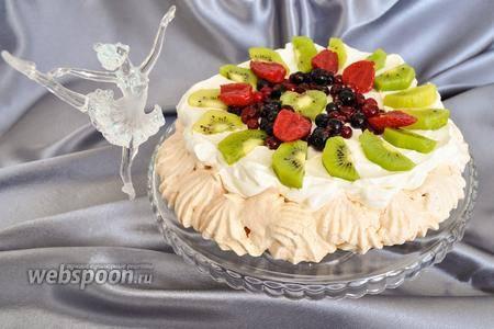 Как украсить торт фруктами симпатишненько и простенько