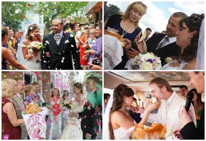 Свадебные традиции: встреча с караваем молодых. речь при встрече молодых с караваем