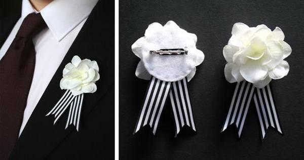 Бутоньерка для жениха из розы: классика всегда в моде