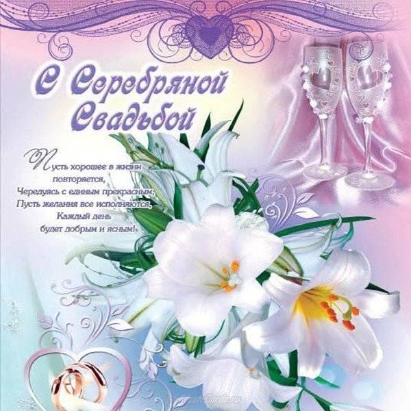 Смешные поздравления с серебряной свадьбой в стихах