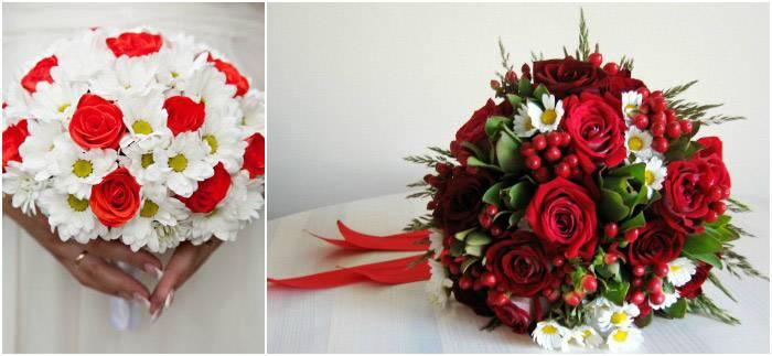 Красно-белый букет невесты (79 фото): выбираем свадебные букеты в сине-бело-красном цвете с лентой