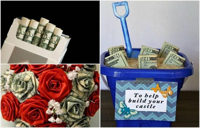 Креативно дарим деньги на свадьбу, прикольные идеи, оригинальная упаковка