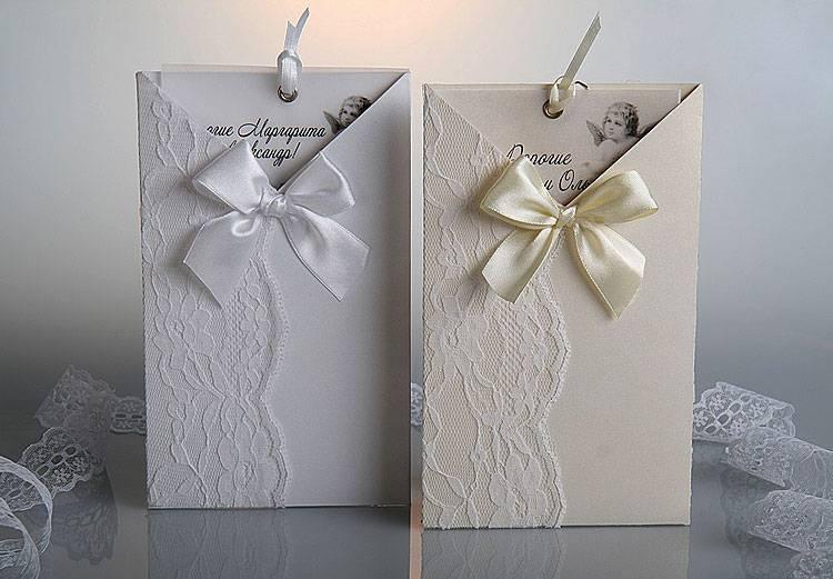 Приглашения на свадьбу ручной работы