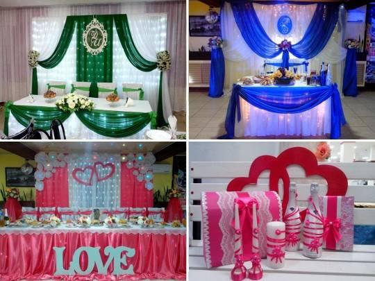 Украшение свадебного зала: стильные варианты декора