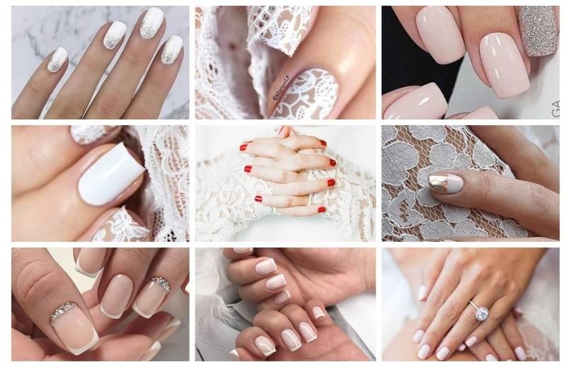 Свадебный маникюр невесты, идеи для свадебного дизайна ногтей