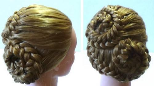 Свадебные прически с косами и плетением