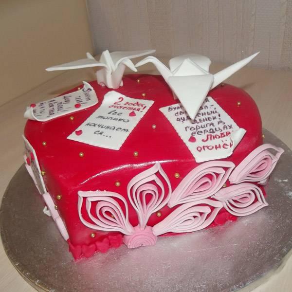 Торт на годовщину свадьбы (фото) на 1-5, 10, 25, 50 лет