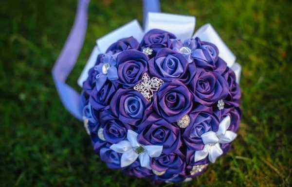 Букет невесты из атласных лент своими руками инструкция основа для букета невесты из атласных лент