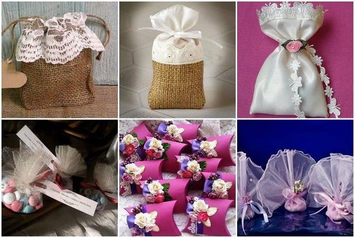 Оригинальные бонбоньерки на свадьбу (фото)