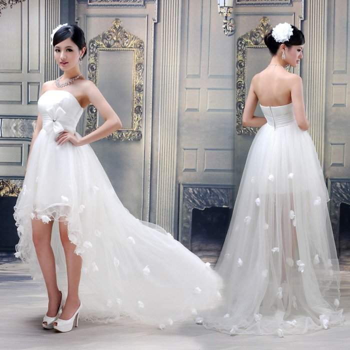 Платье маллет с удлиненным задом или юбка-каскад с ассиметричным подолом