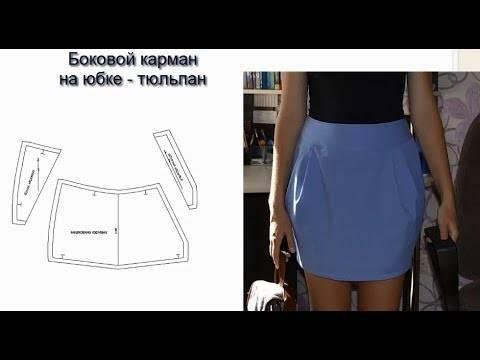 С чем носить юбки тюльпан