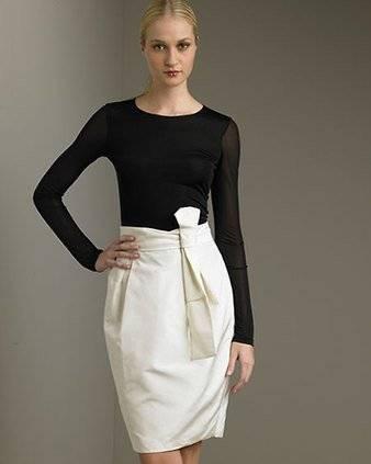 Платье с юбкой-тюльпан – веяния природы