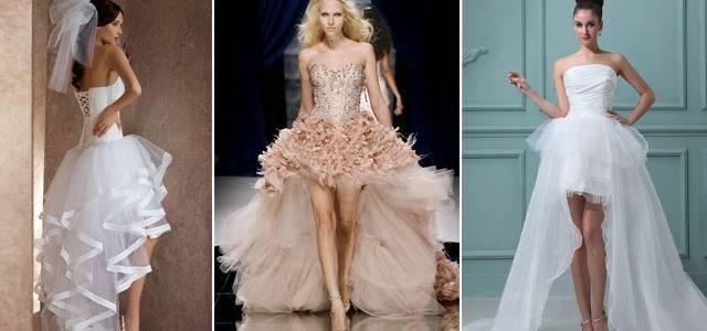В моде платье короткое спереди, длинное сзади