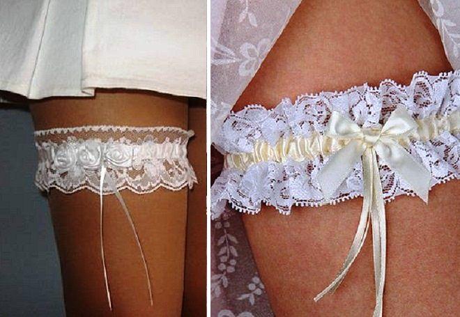Бросание подвязки на свадьбе