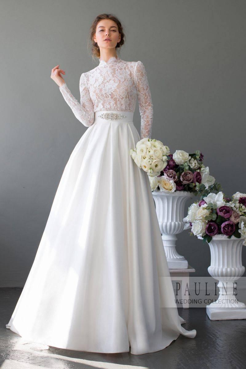 Свадебные платья с рукавами из кружева, пышные и прямые, длинные и короткие