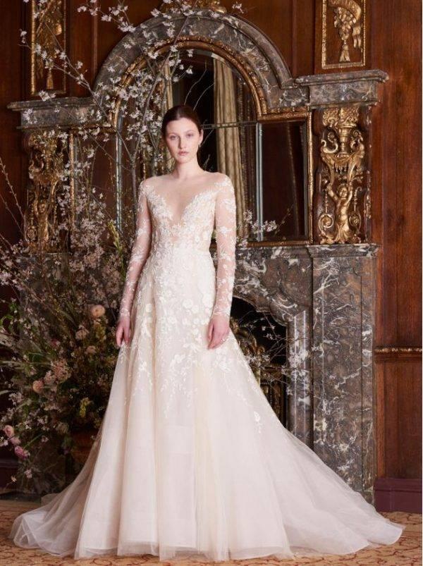Кружевные свадебные платья: лучшие модели с элементами из кружева (79 фото)