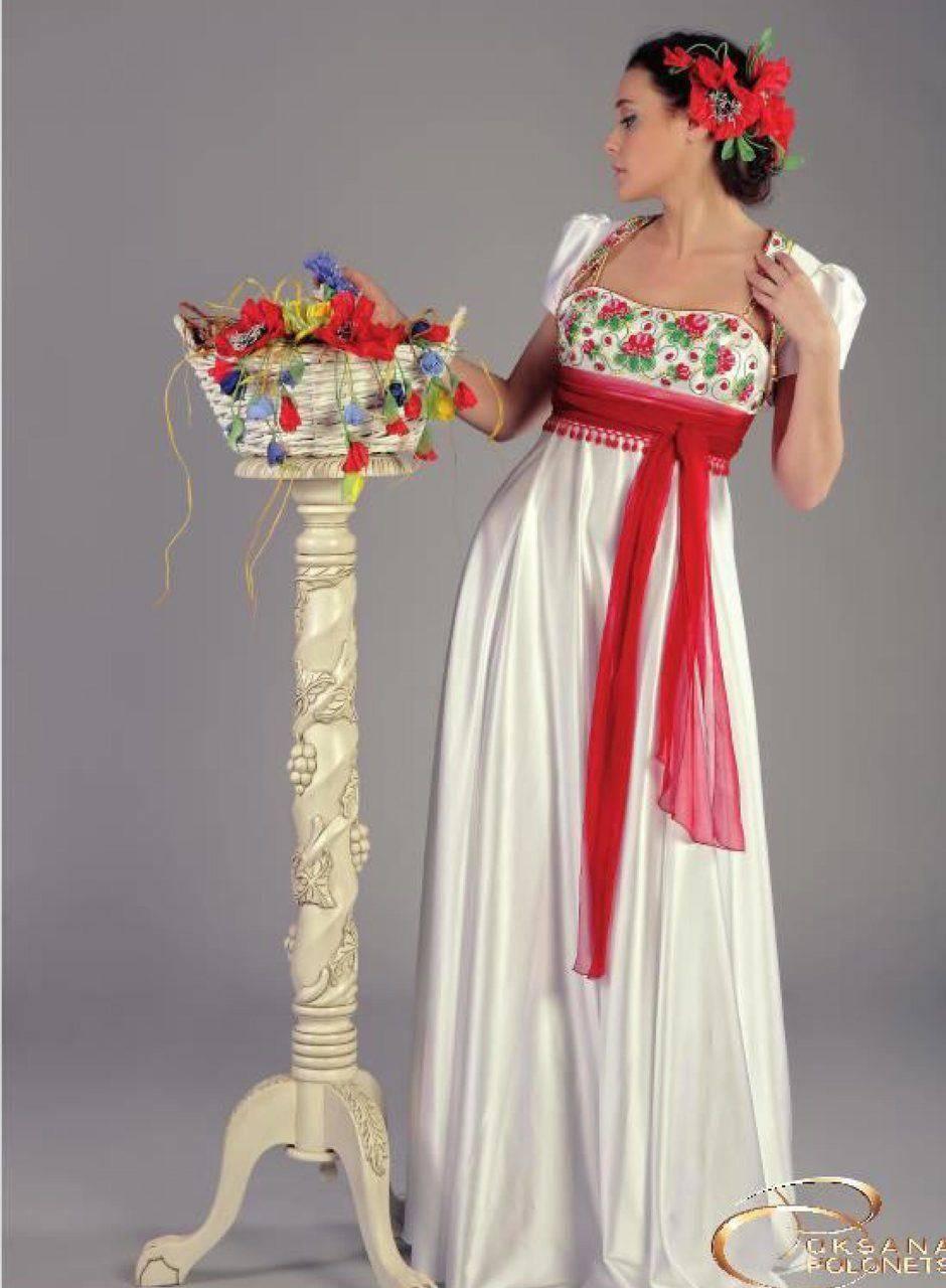 Свадебное платье в русском народном стиле
