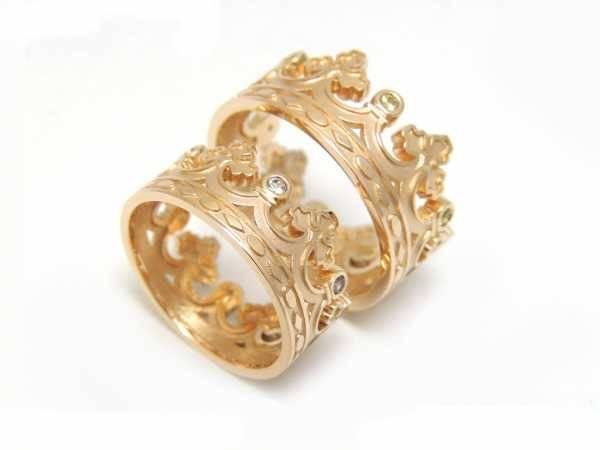 Обручальные кольца из комбинированного золота