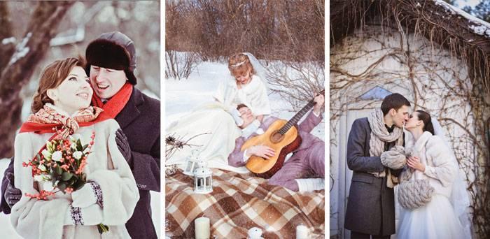 Зимняя свадебная фотосессия: идеи фотосъемки (фото и видео)