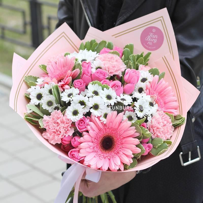 Букет невесты из хризантем (фото)
