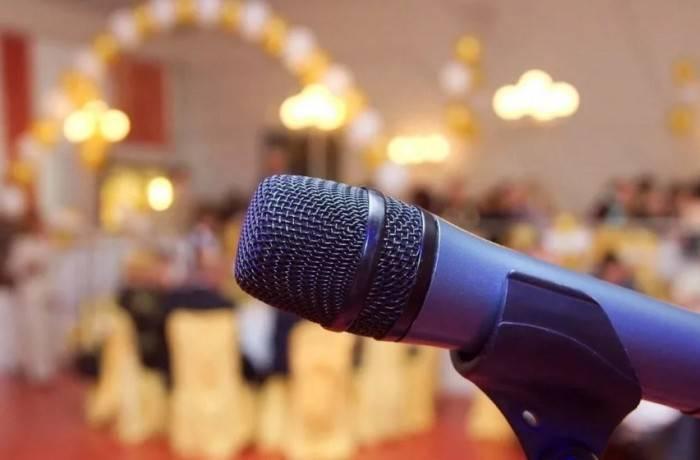 Ведущий и его микрофон