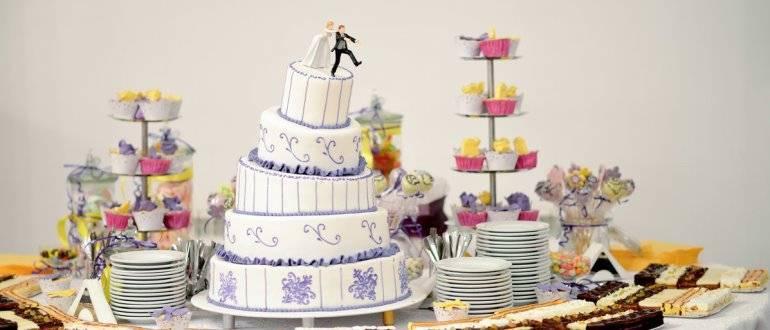 Торт для свадьбы в стиле прованс