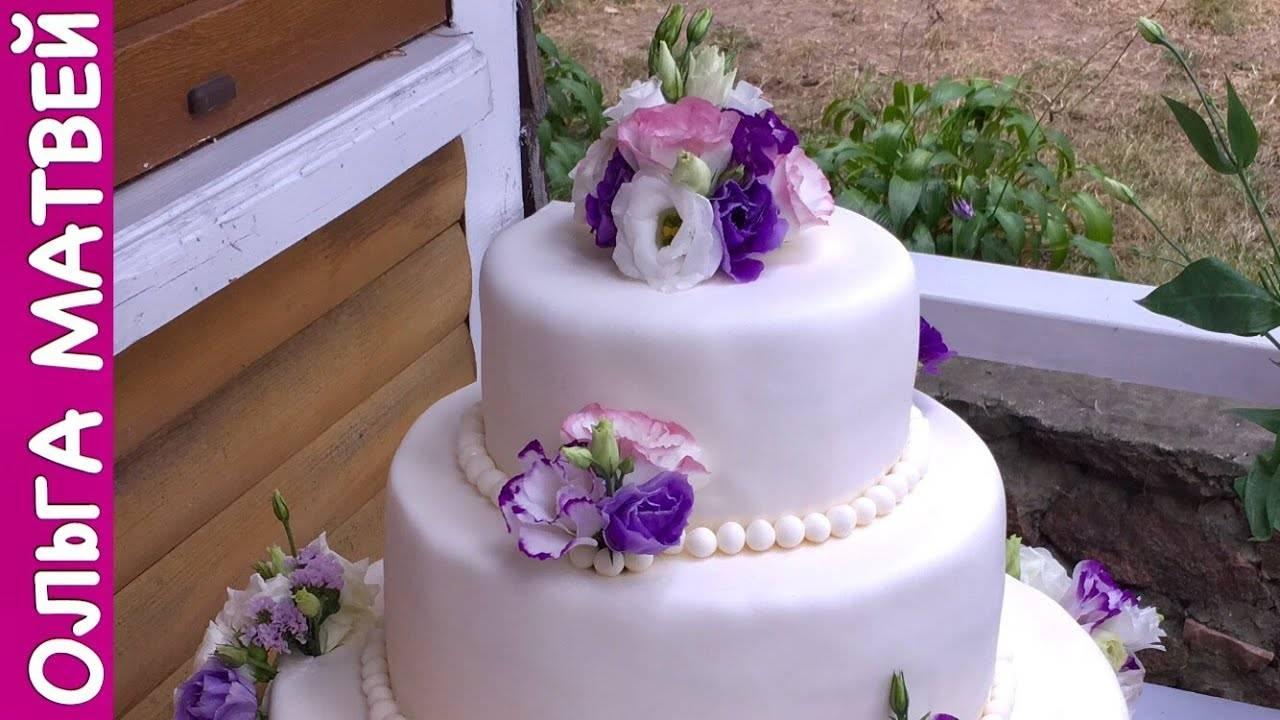 Идеи для зимней свадьбы — торт подарок