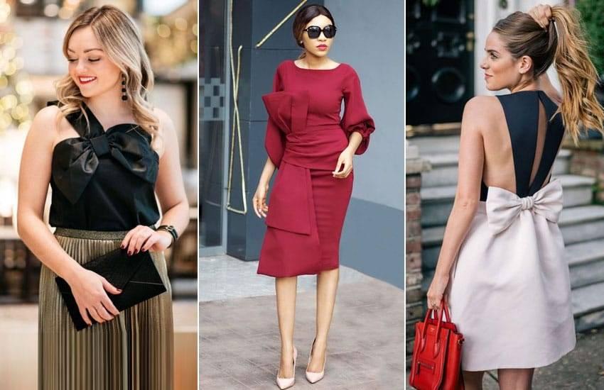 Платье с бантом: лучшие модели и образы