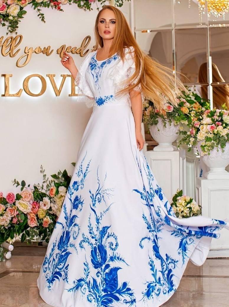 Свадебные платья в русском стиле: описание и фото