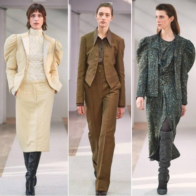 Модные брючные костюмы для женщин: фото, новинки фасоны