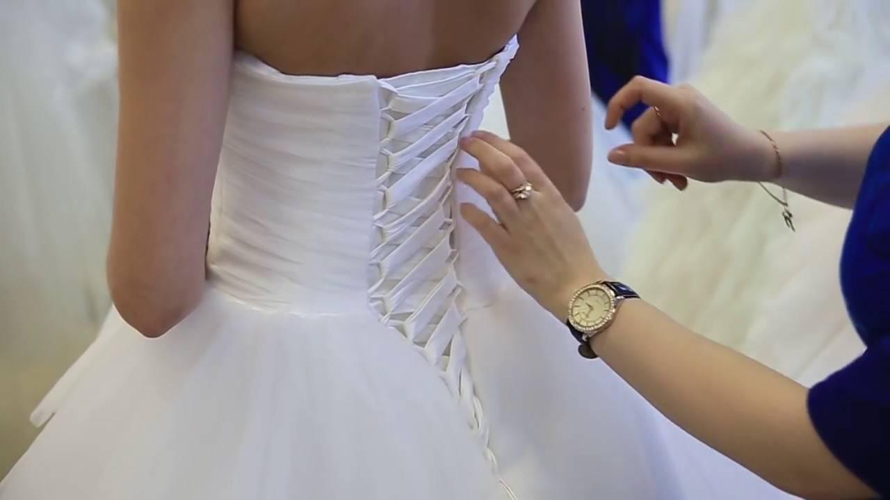 Как шнуровать свадебное платье  завязывать шнуровку сзади платья