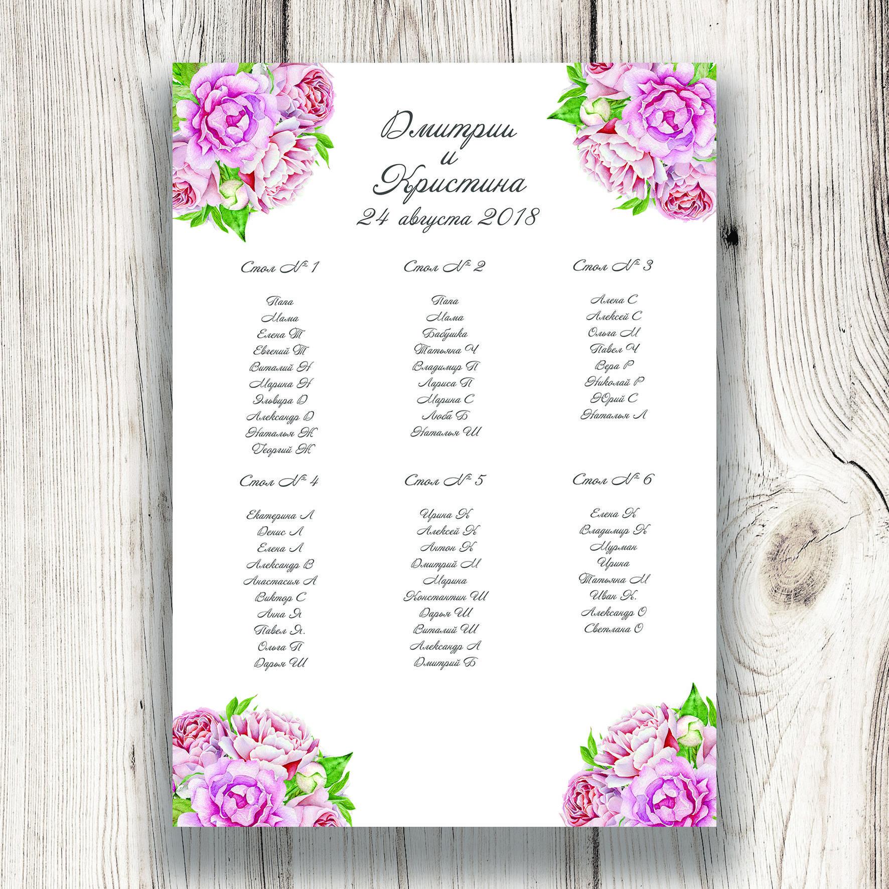 Составляем план рассадки гостей на свадьбе