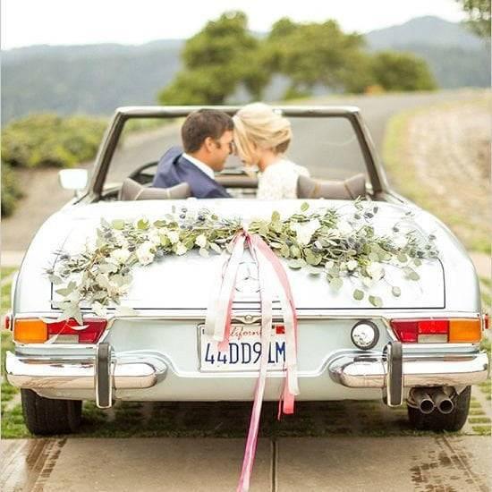 Как украсить машину на свадьбу: воплощаем интересные идеи своими руками
