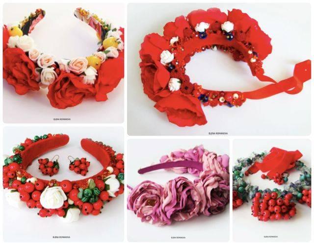 Как сделать венок на голову для обряда. как сделать венок из цветов. свадебный венок из цветов и ягод