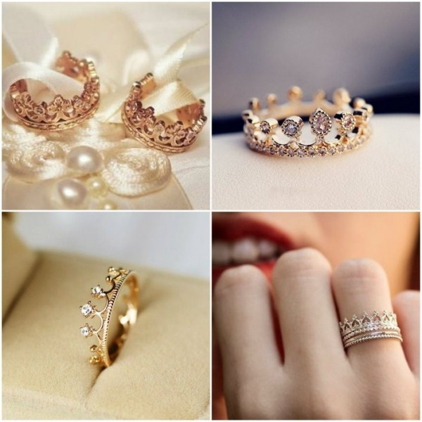 Комбинированные обручальные кольца: варианты из 2-х и 3-х видов золота