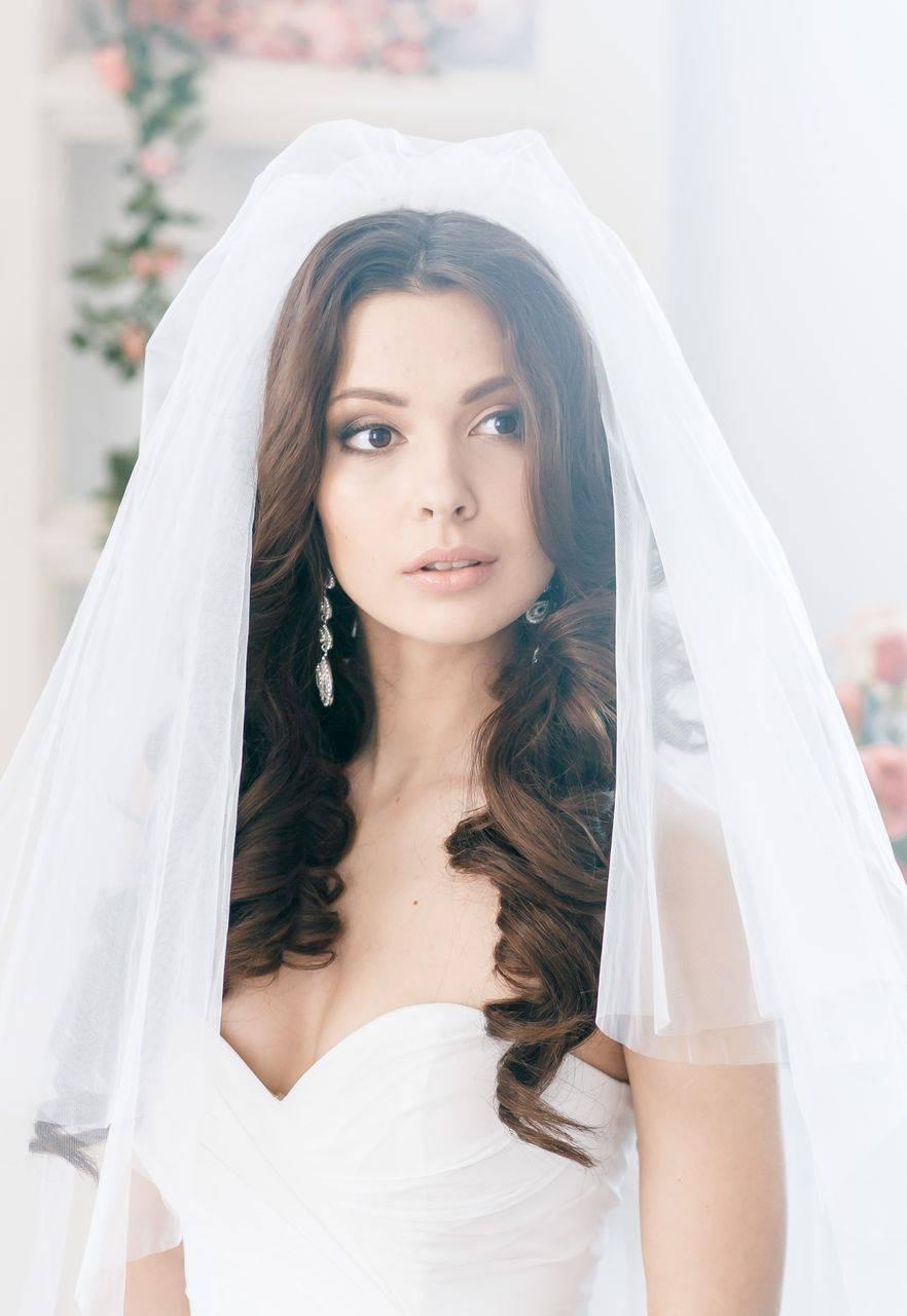 Фата на свадьбу, образ невесты с фото и видео