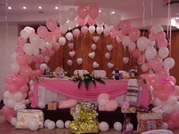 Украшение зала шарами на свадьбу — 13 интересных идей