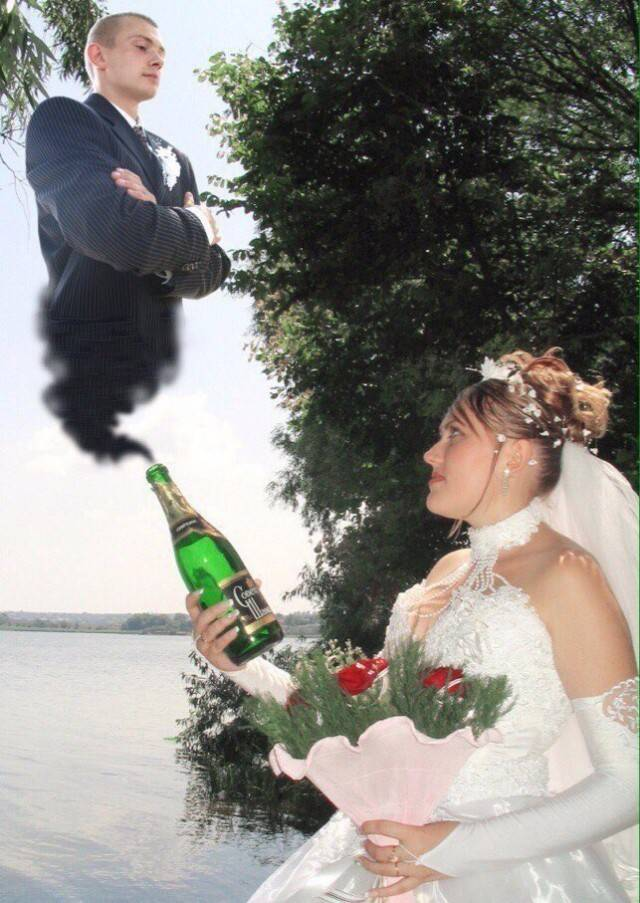 Свадебные фото-курьезы