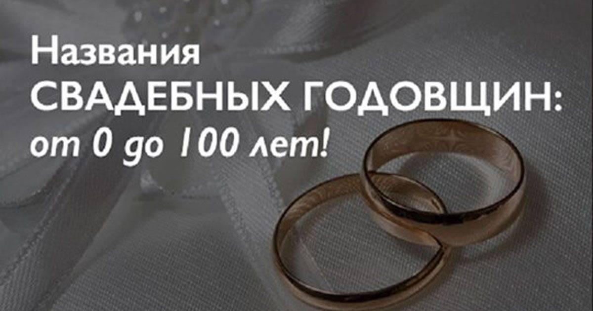 Годовщины свадеб и их названия по годам (идеи подарков)