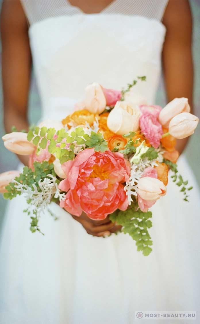 Свадебный букет из анемонов (фото)